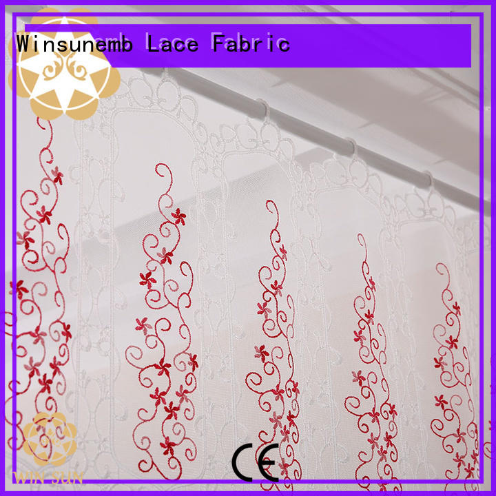 Winsunemb good looking lace drapes for manufacturer for window