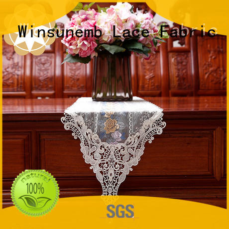 Winsunemb high-end lace table runners wedding party for pianos