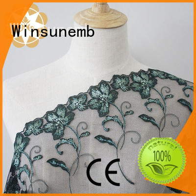 Embroidery Lace Fabric Green Floral Mesh Lace Fabric