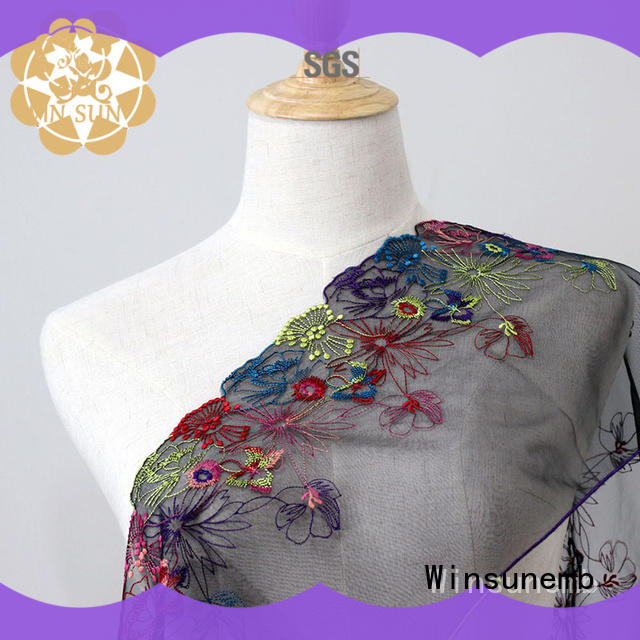 Winsunemb 100polyester vintage lace for manufacturer for apparel