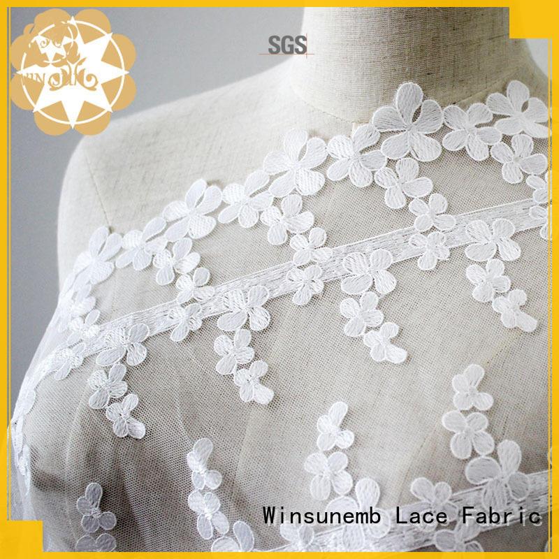 Winsunemb allover lace fabric online bulk production for underwear