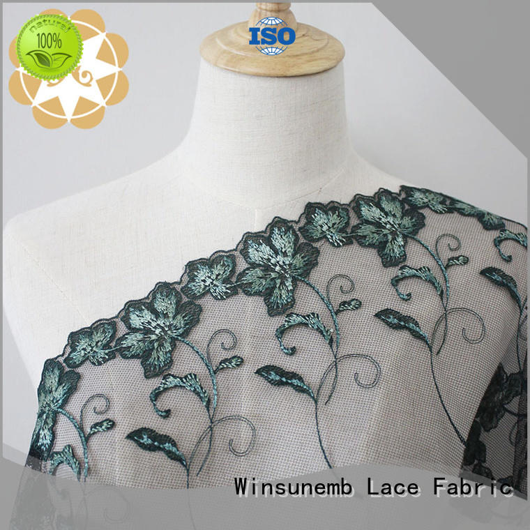 Winsunemb lace material order now for apparel