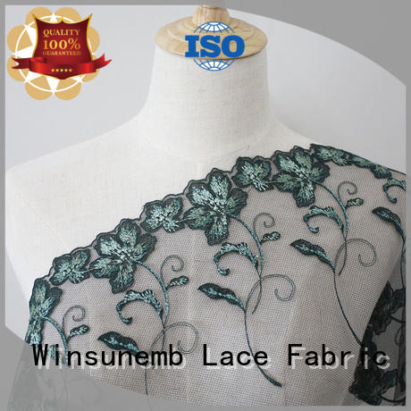 Winsunemb lace fabric online for manufacturer for apparel