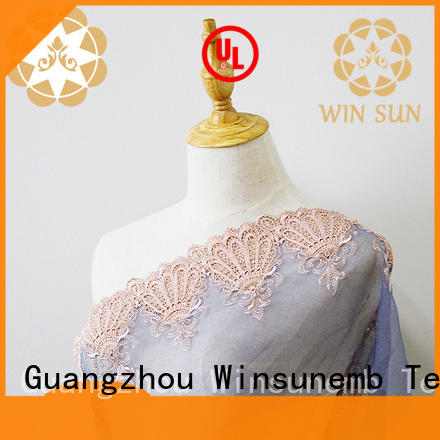 Winsunemb professional lace fabric wholesale producer for underwear