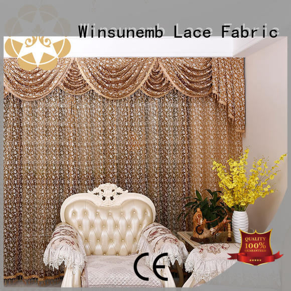 embroidery lace curtain irish lace for window Winsunemb