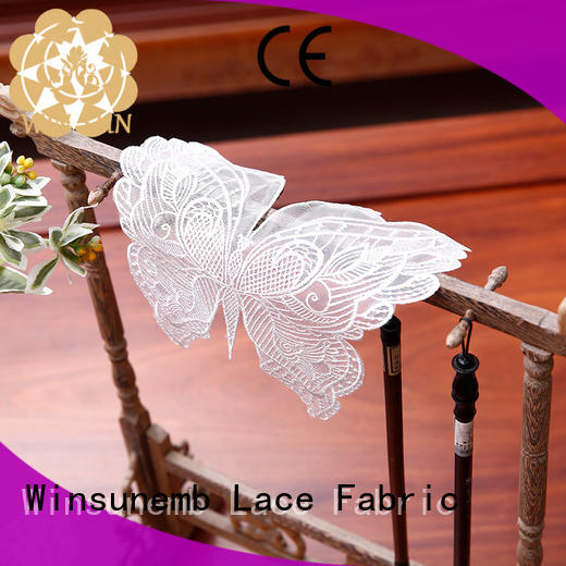 Winsunemb lace lace appliques bulk production for dining tables