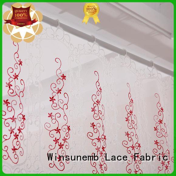 Winsunemb superior lace valances wholesaling for window