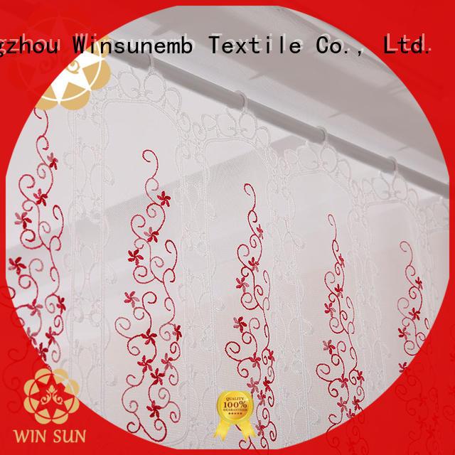 Winsunemb high-end lace curtain bulk production for window