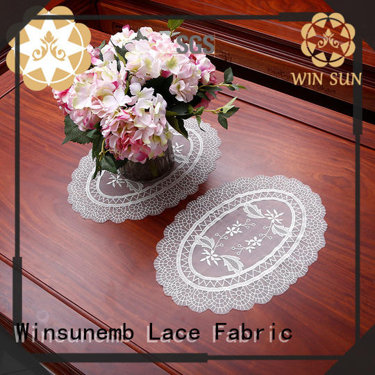 Winsunemb superior lace doilies bulk for sideboards