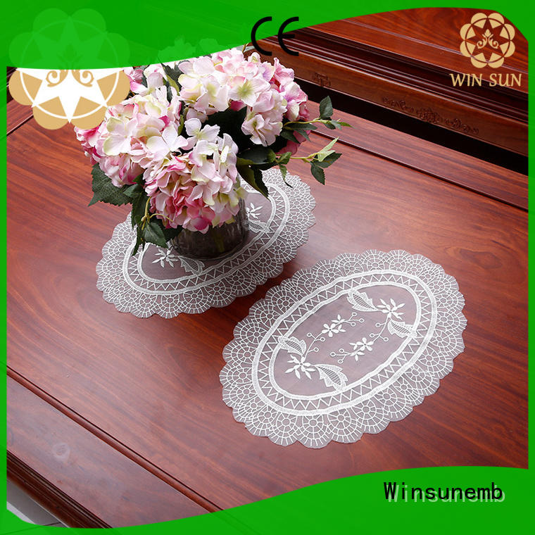 Winsunemb lace coasters vendor for sideboards
