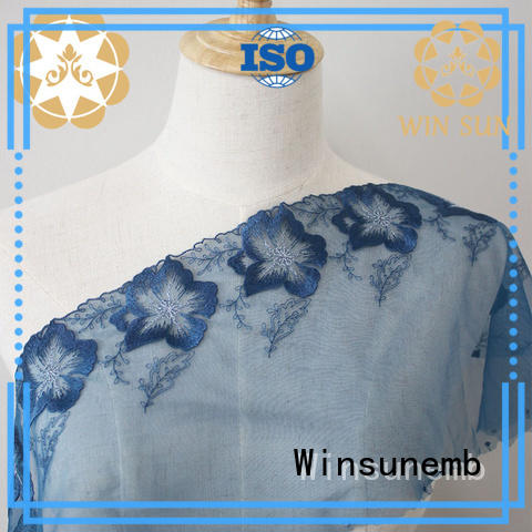 Winsunemb lace for sale for apparel