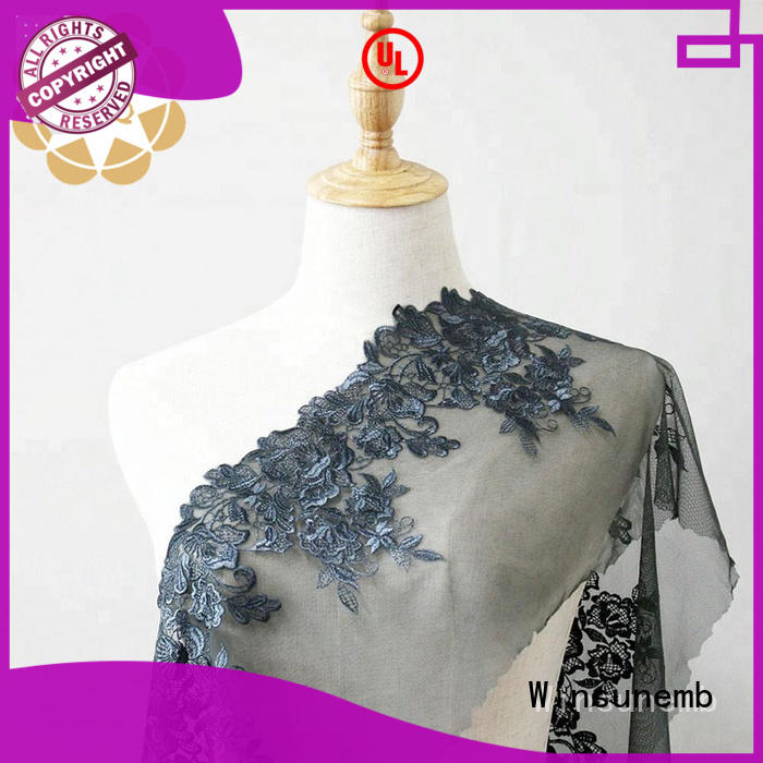 Winsunemb french bridal lace by the yard shop now for apparel