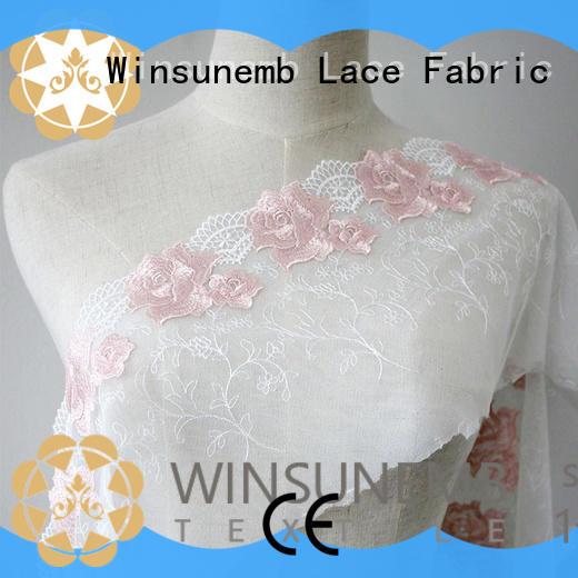 100polyester luxury lace women for apparel Winsunemb