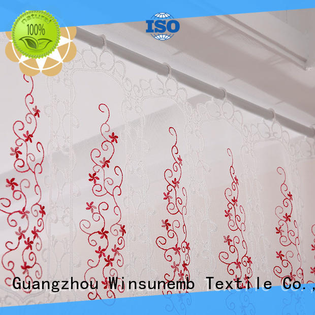 high-end lace shower curtains directly sale for window