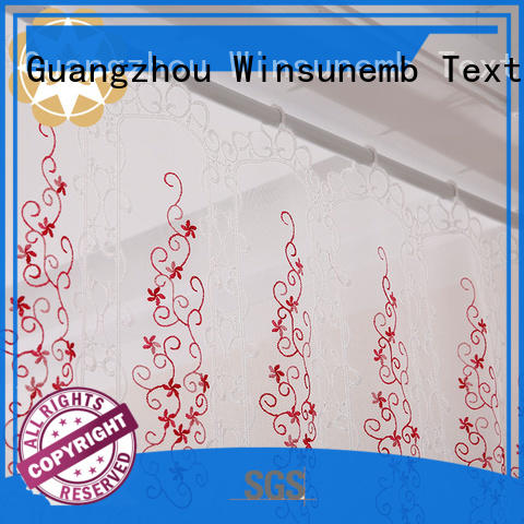 bathroom embroidered colorful Embroidery Lace Curtains sheer Winsunemb Brand