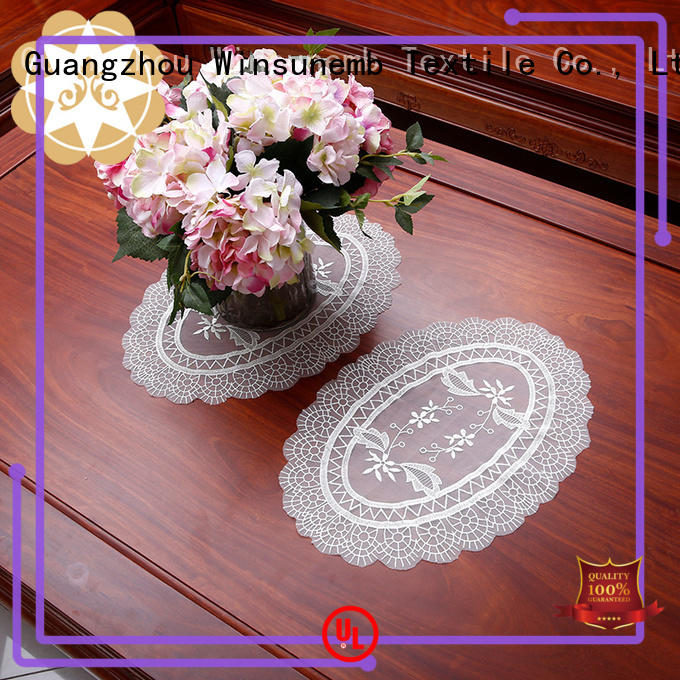 Winsunemb superb paper lace doilies marketing for TV cabinets