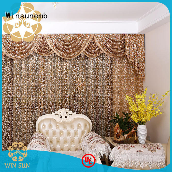 Winsunemb good looking lace drapes directly sale for window