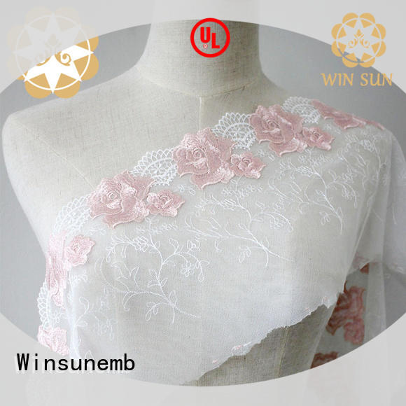 Winsunemb durable luxury lace order now for apparel