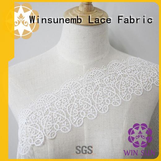 Winsunemb Brand cut floral stretch lace