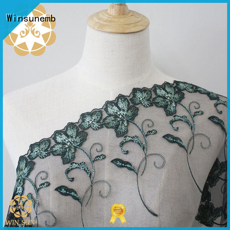 Winsunemb dress135 lace fabric by the yard for manufacturer for apparel