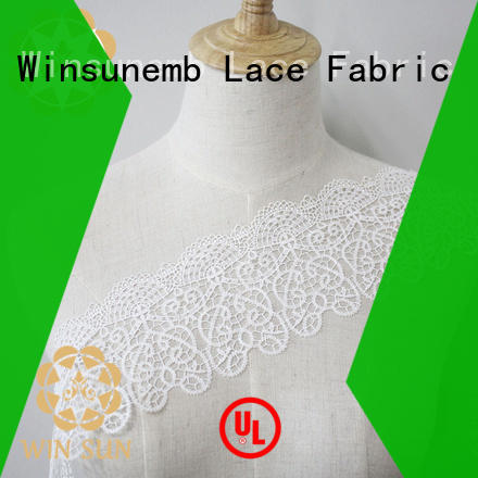 Winsunemb highend Embroidery Lace Trimming order now for bedclothes