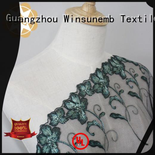green cut style Winsunemb Brand red lace fabric factory