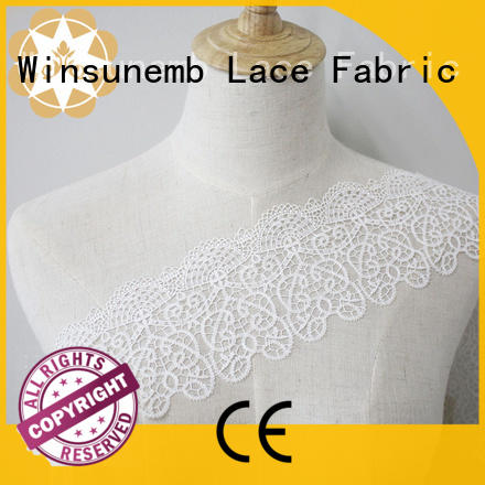 Winsunemb Brand childrens vintage Embroidery Lace Trimming manufacture