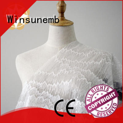 rose childrens Embroidery Lace Fabric colorful Winsunemb