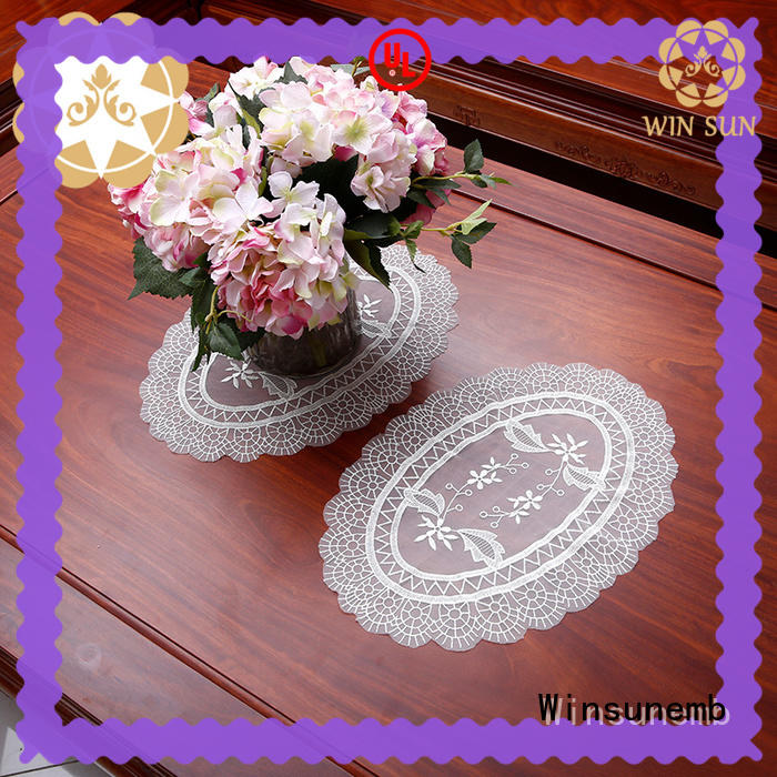 Winsunemb butterflyshaped lace doilies vendor for TV cabinets