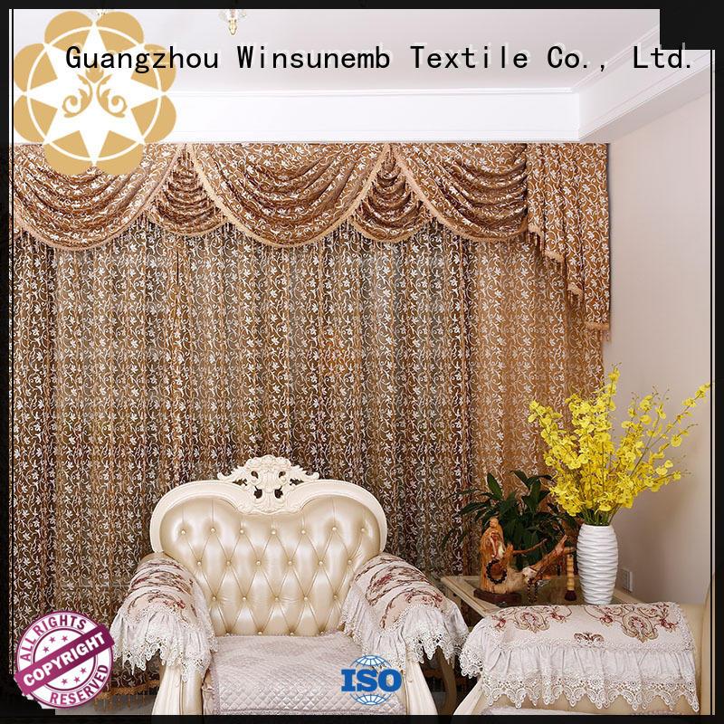 Winsunemb exquisite lace curtain wholesale for window