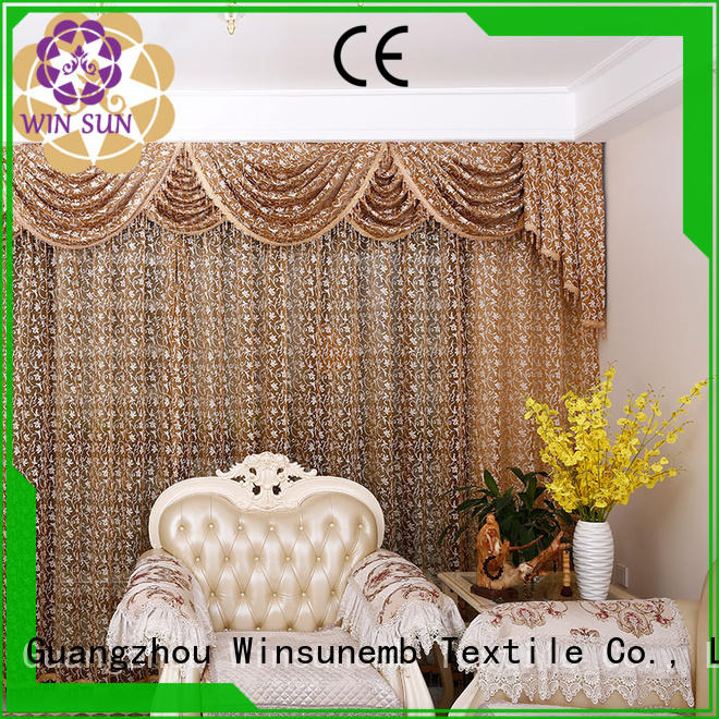 Winsunemb Brand sublimation colorful width custom white lace curtains