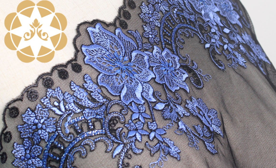 bridal lace fabric pattern for manufacturer for apparel-2