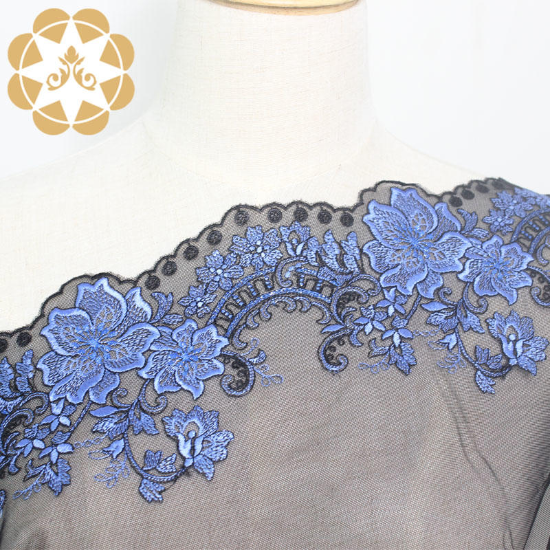 18cm Embroidered Mesh Lace Floral Fabric For Lingerie WS8063395
