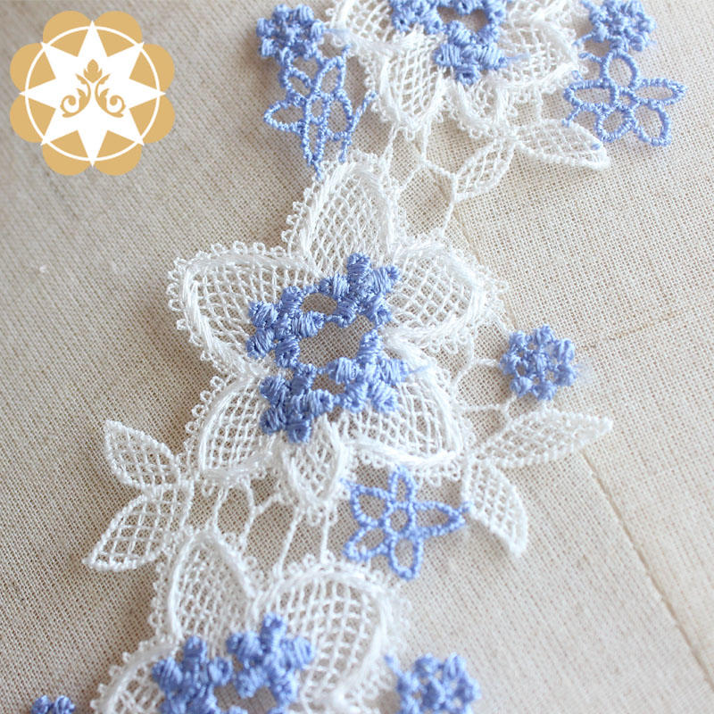 Embroidery Trims Europe Flower Pattern Ribbon Trim Lace 5.5cm