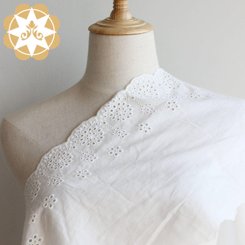 Embroidery Anglaise cotton eyelet lace Fabric Curtain Tablecloth Slipcover DIY Clothing/Accessories.
