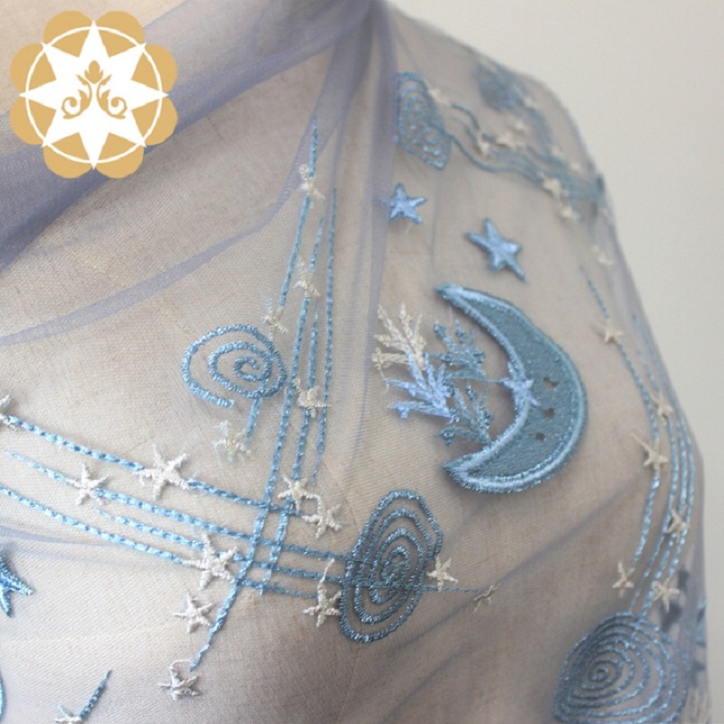 Winsunemb -Best Luxury Lace Winsunemb2019 New Product Winsunemb Star And Moon Embroidery-3