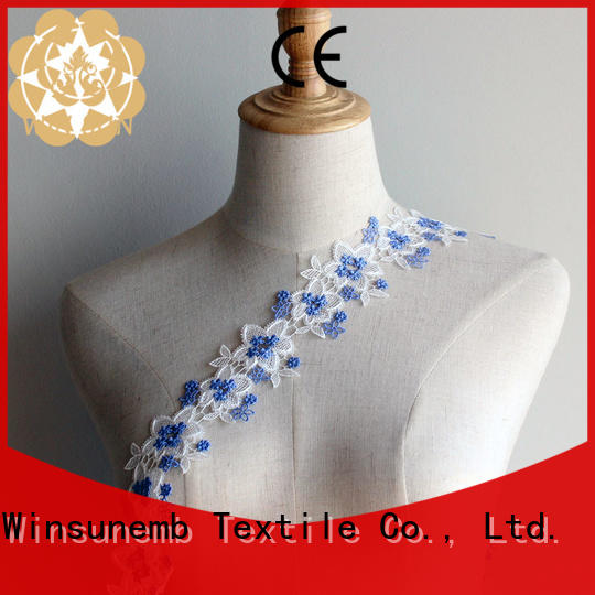 stretch lace floral Embroidery Lace Trimming newest company