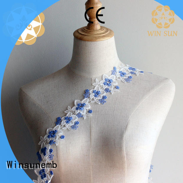 eco-Friendly lace trim gowns order now for fashion garment