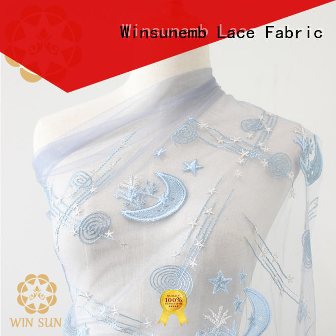 Winsunemb elegant ivory lace in china for apparel