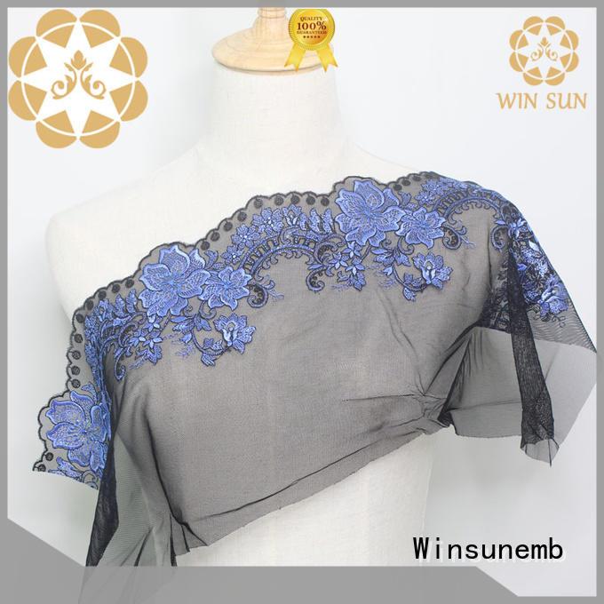 Winsunemb flowers luxury lace bulk production for underwear
