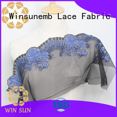 Winsunemb stiches stretch lace fabric order now for underwear