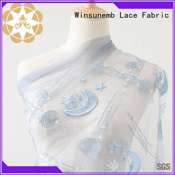 Winsunemb french beaded lace fabric order now for apparel