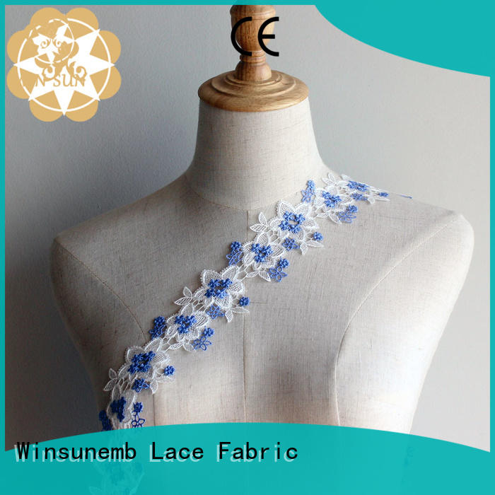 stretch lace flower floral design Embroidery Lace Trimming manufacture