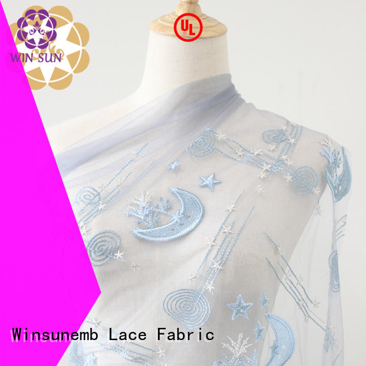 Winsunemb embroidery lace material for dressmaking grab now for apparel