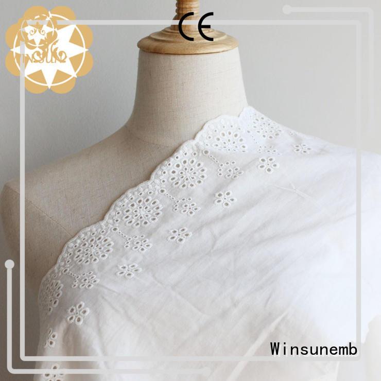 Winsunemb shirt lace fabric for apparel