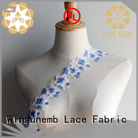 Winsunemb exquisite Embroidery Lace Trimming shop now for bedclothes