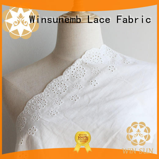 Winsunemb durable cotton lace fabric grab now for underwear