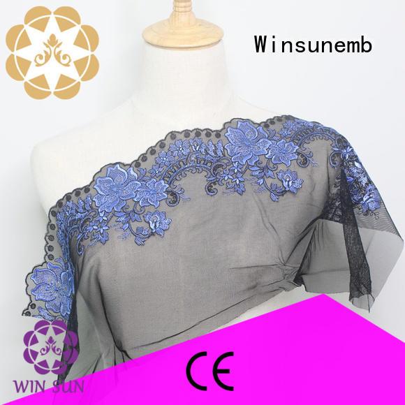 red lace fabric nylon bridal Bulk Buy french Winsunemb