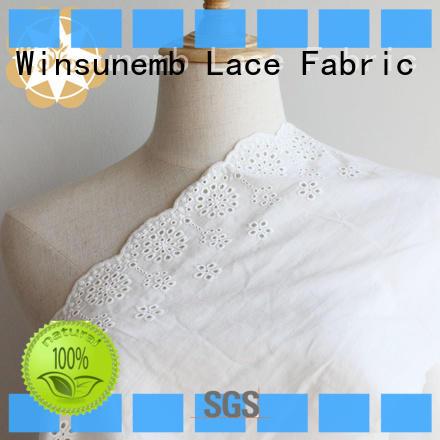 polyester polyester red lace fabric pattern Winsunemb company