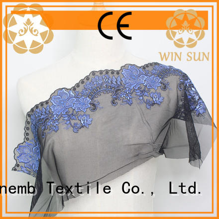 Winsunemb elegant bridal lace by the yard for manufacturer for apparel
